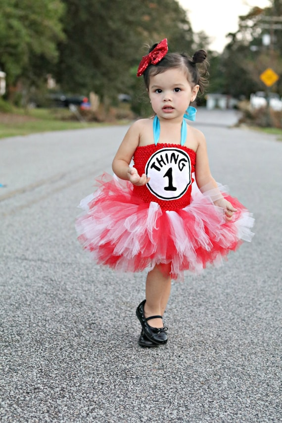 Dr. Suess Thing 1 Tutu Dress