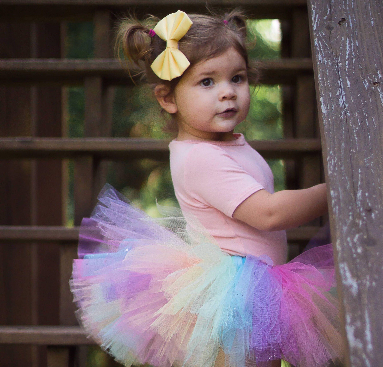 5bef1858d Sparkle Pastel Rainbow Tutu, Colorful Tutu, Birthday Tutu, Rainbow ...