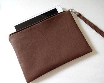 iPad mini Zipper Wristlet, Zipper Pouch, Bridesmaid Gift, Wristlet Clutch, Cosmetic, Makeup Bag - 12x4 Selections, Black, Beige, Red,Chevron