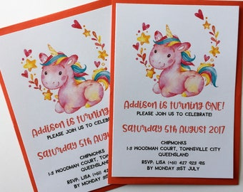 Princess Invitations for Pink Princess - Kids Party Invite | Princess Birthdays Girl Birthday Invite, Unicorn Invitation Rainbow Invitation