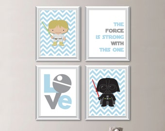 Baby Boy Nursery Art. Star Wars Nursery. Star Wars Baby. Star Wars Art. Star Wars Nursery Decor. Star Wars Nursery Art. Poster. (NS-840)