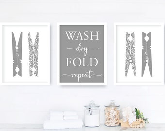 Laundry Dressing Room Decor Wall Art Poster Print Laundry Schedule Canvas Print