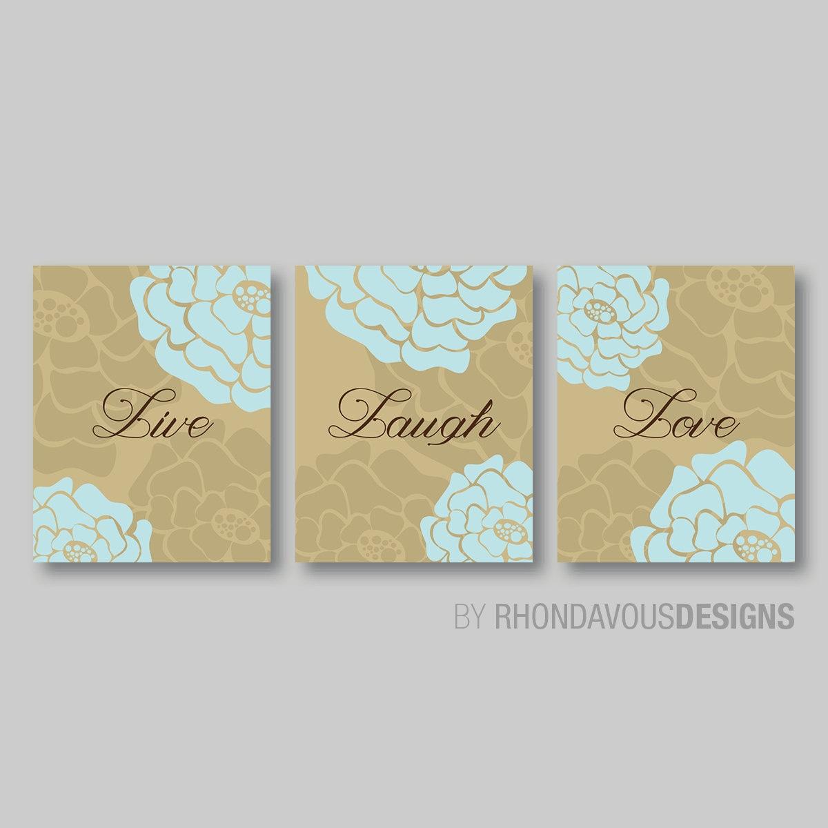 Live Laugh Love Wall Art - Live Laugh Love Decor - Bathroom Art ...
