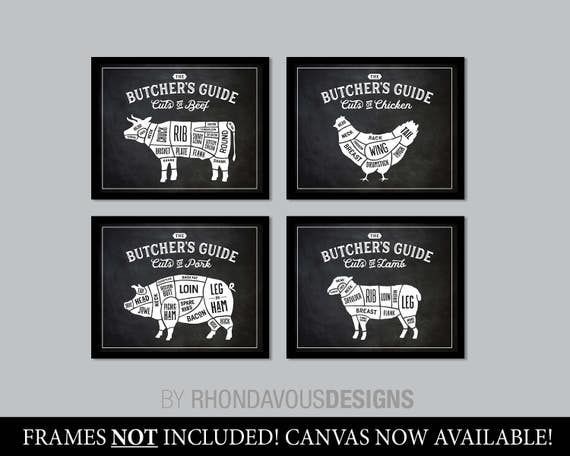 il_570xN.1206782769_dwvs kitchen art butcher chart butcher diagram butcher print etsy