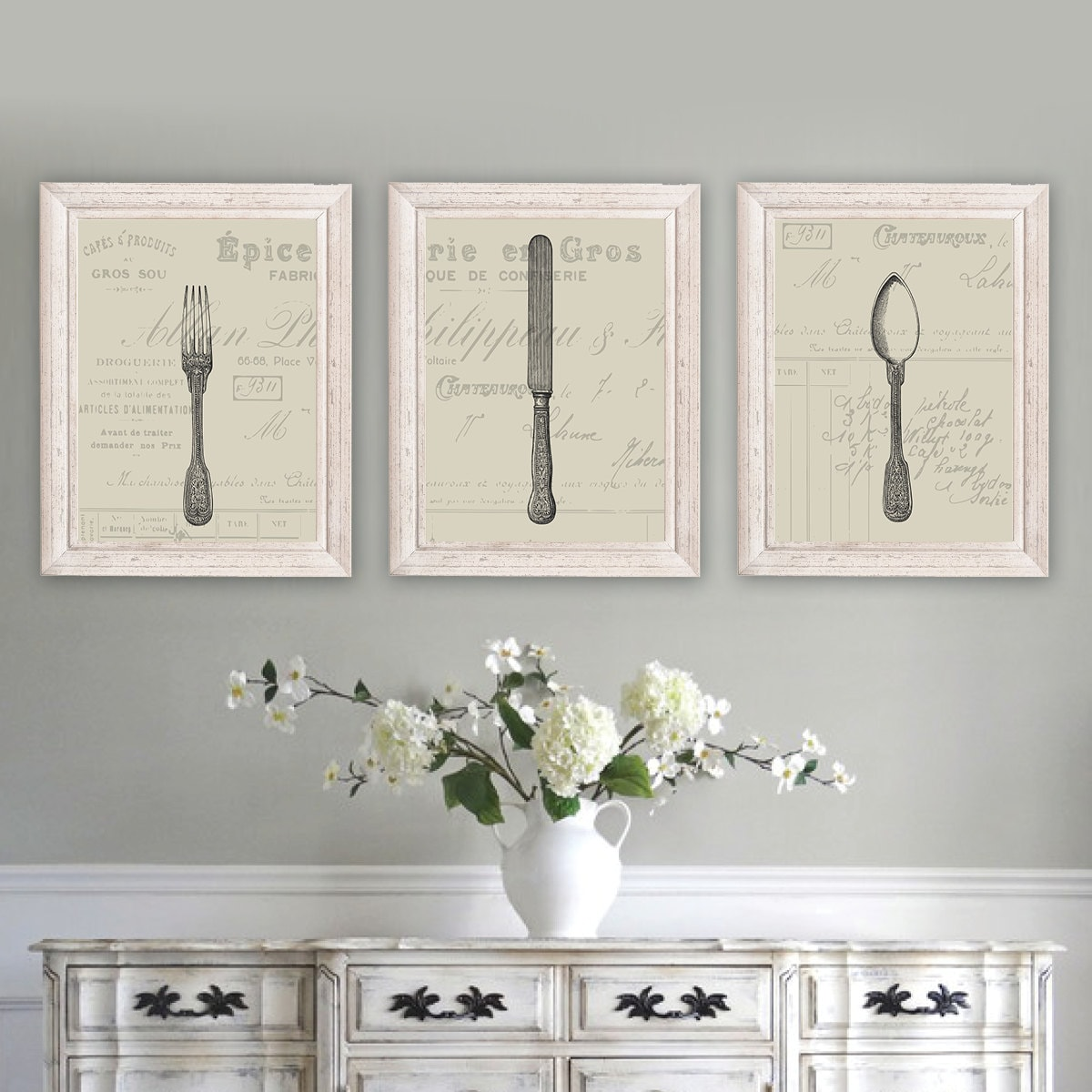 French Country Decor. Farmhouse Decor. Farmhouse Wall Decor. French Country  Wall Decor. Dining Room Wall Art. Silverware. Cutlery (NS 180)