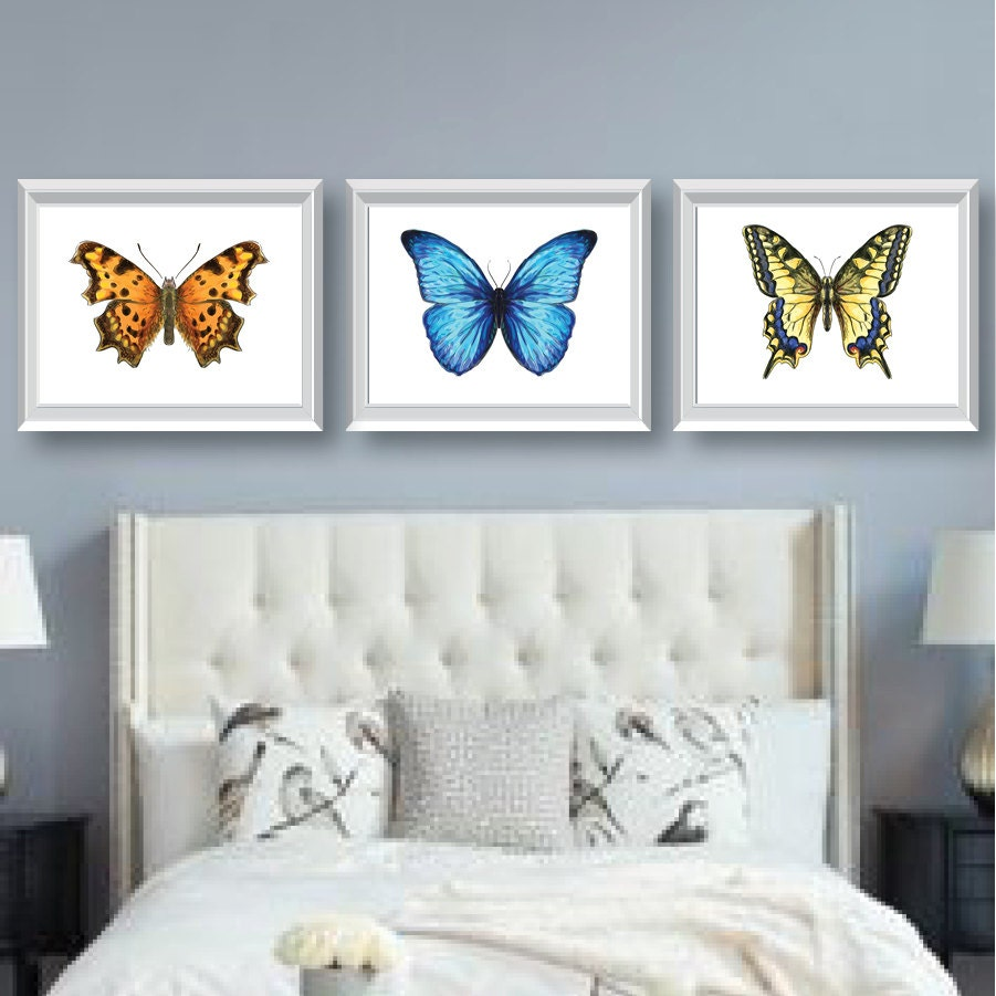 Watercolor Butterfly Art   Bedroom Art   Bathroom Art   Nursery Art    Butterfly Bedroom Decor   Butterfly Art   Butterfly Decor   NS 647