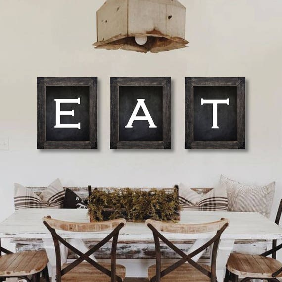 Farmhouse Decor Eat Sign Dining Room Wall Art Farmhouse Etsy