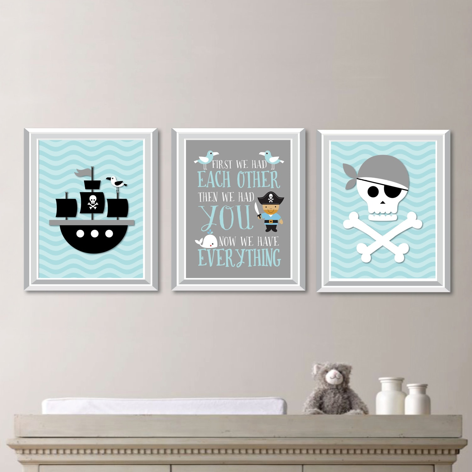 Pirate Wall Art. Pirate Poster. Pirate Bedroom Art. Boy Bedroom Art. Baby  Boy Nursery Art Prints. NS 841