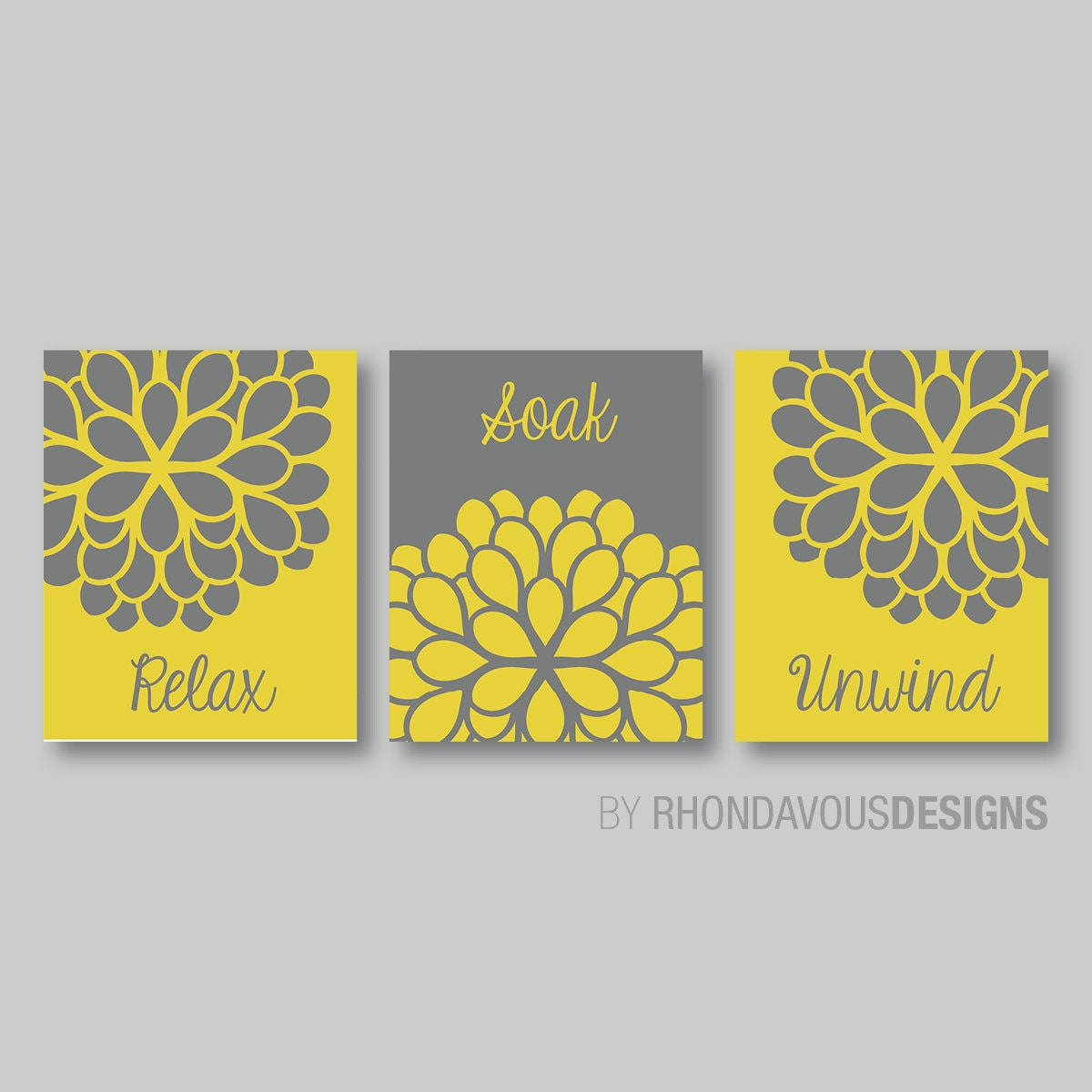 Relax Wall Art. Relax Soak Unwind. Relax Decor. Bathroom Art. Wall ...
