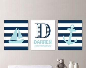 Baby Boy Nursery Art. Boy Bedroom Art. Nautical Nursery Decor. Nautical Nursery Print. Nautical Nursery Art. Bedroom Nautical. Canvas. NS578