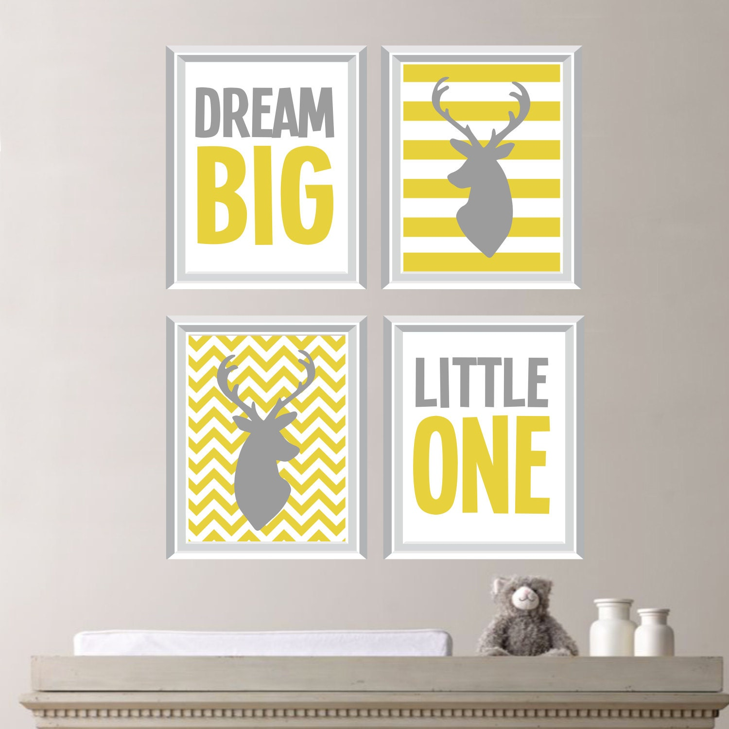 Gender Neutral Nursery Art - Gender Neutral Nursery Decor, Deer ...