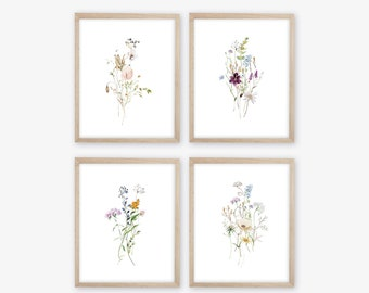 Watercolor Botanicals Prints. Botanical Decor. Botanical Wall Art. Flower Prints. Farmhouse Decor. Kitchen Decor. Kitchen Prints. Nursery