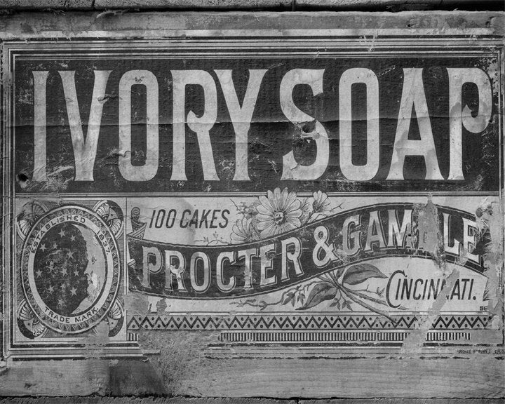 Ivory Soap Black and White Vintage Bathroom Decor Laundry Room