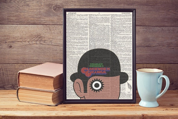 A Clockwork Orange Recycled Upcycled Vintage Dictionary Page Art Print A4