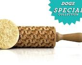 Beagle !  Embossing rolling pin, laser engraved rolling pin