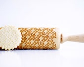 ROBOTS - Embossing rolling pin, laser engraved rolling pin