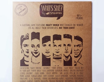 WHO'S SHE? paper game