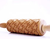 FOXES kids - embossing rolling pin for kids, small laser engraved rolling pin. Valek KIDS! Kids' toys!