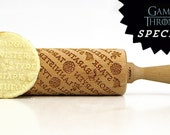 GAME OF THRONES Embossing rolling pin, laser engraved rolling pin