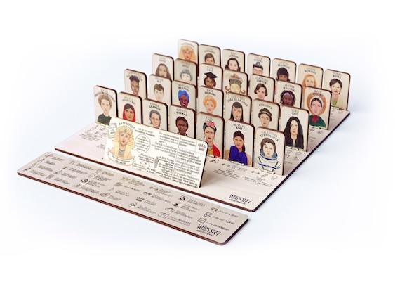WHO'S SHE? in legno - Il gioco da tavolo di donne che hanno cambiato il mondo