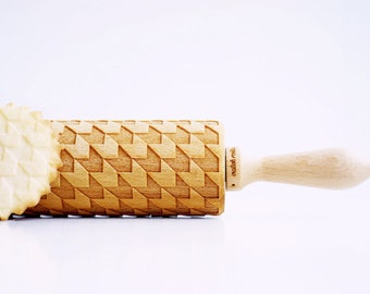HOUNDSTOOTH rolling pin, wedding gift, Christmas gift, craft and bake, original baking tool