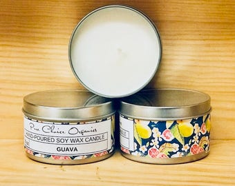 Guava Soy Wax Candles Holiday Gift | Birthday Gifts Under 20