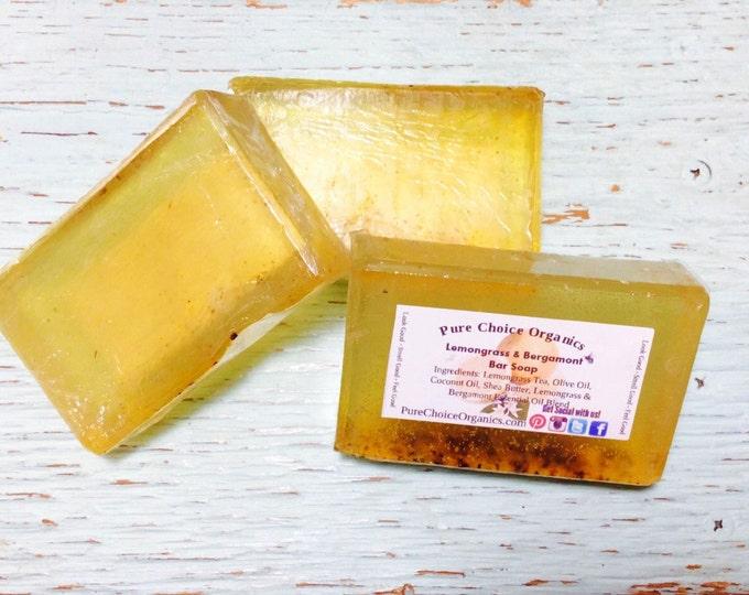 Lemongrass & Bergamont Tea Infused Soap! l Gifts Under 10