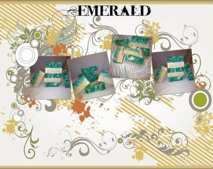 Emerald Goat Milk Artisan Soap l Gifts Under 10