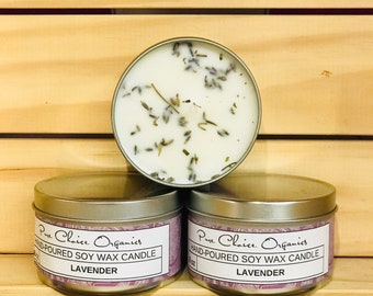 Lavender Fields Soy Wax Candles Holiday Gift | Birthday Gifts Under 20
