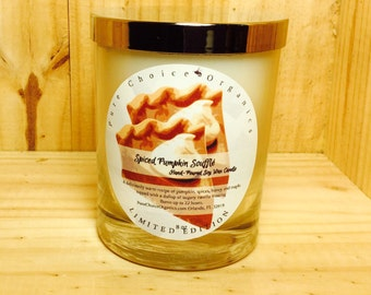 Spiced Pumpkin Souffle Soy Wax Candles Holiday Gift | Birthday Gifts Under 20