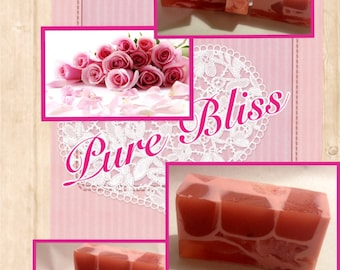 Pure Bliss Natural Goat Milk Artisan Inspired Soap l Gifts Under 10