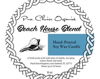 Beach House Blend Soy Wax Candles Holiday Gift | Birthday Gifts Under 20