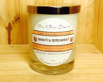 Quidditch Refreshment Butter Beer Soy Wax Candles Holiday Gift | Birthday Gifts Under 20