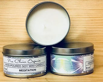 Meditation Soy Wax Candles Holiday Gift | Birthday Gifts Under 20
