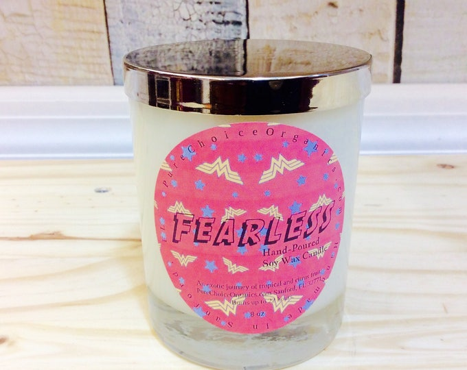Wonder Woman Inspired Fearless Soy Wax Candles Holiday Gift | Birthday Gifts Under 20