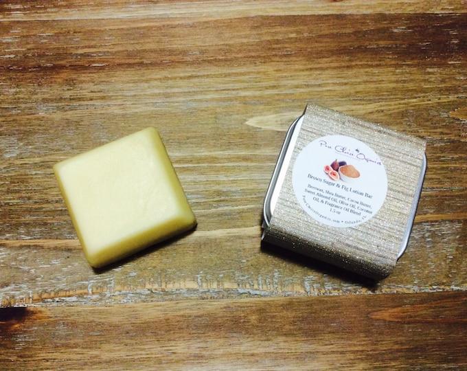 Brown Sugar Fig Lotion & Massage Bar l Gifts Under 10