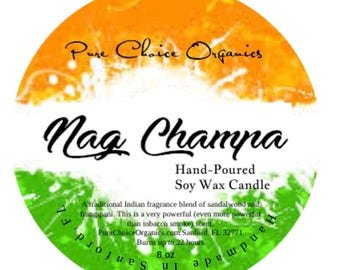 Nag Champa Soy Wax Candles Holiday Gift | Birthday Gifts Under 20