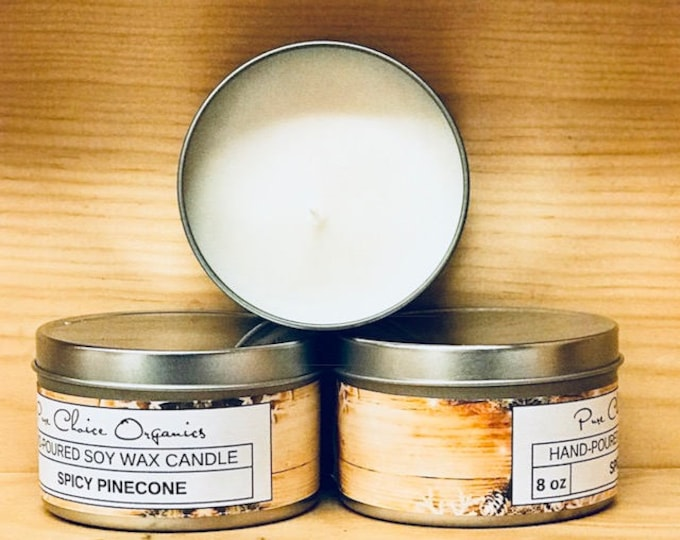 Spicy Pinecone Soy Wax Candles Holiday Gift | Birthday Gifts Under 20