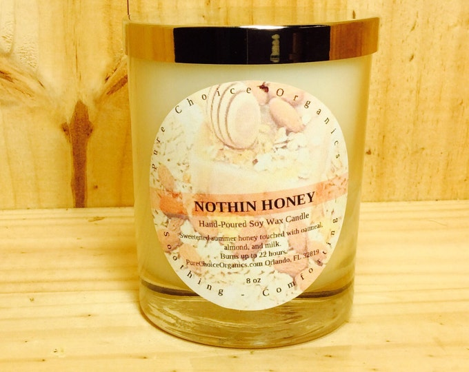 Featured listing image: Nothin Honey Soy Wax Candles Holiday Gift | Birthday Gifts Under 20