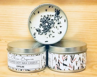 Opium Soy Wax Candles Holiday Gift | Birthday Gifts Under 20