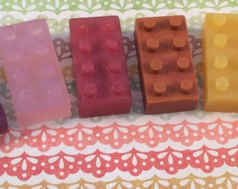 8 Building Block Soap Favors, Party Soap Favors, Children's Soaps, Party Favors, Brick Soap, Block Favor l Gifts Under 10