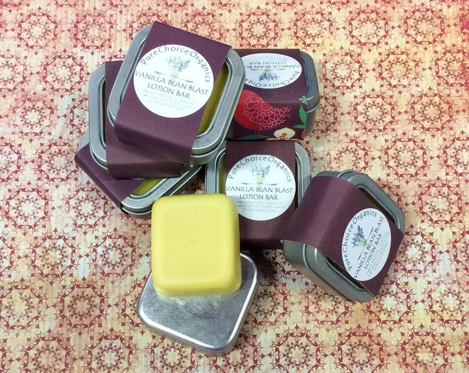 Vanilla Bean Blast Lotion & Massage Bar l Gifts Under 10
