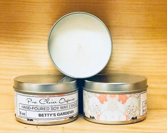 Betty's Gardenia Soy Wax Candles Holiday Gift | Birthday Gifts Under 20