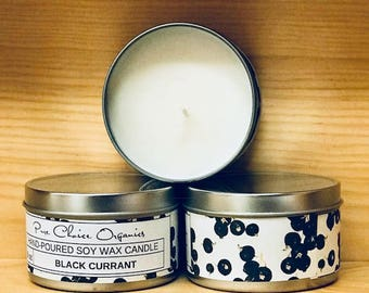 Black Currant Soy Wax Candles Holiday Gift | Birthday Gifts Under 20