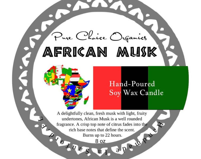 African Musk Soy Wax Candles Holiday Gift | Birthday Gifts Under 20