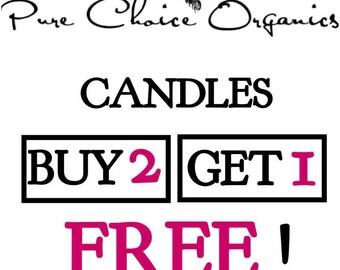 Holiday Gift Candle  BOGO Sale! Buy2 Get1