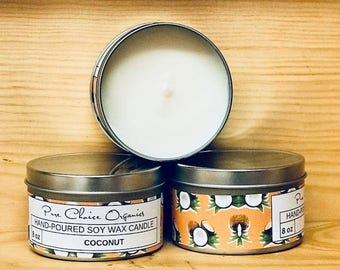 Coconut Soy Wax Candles Holiday Gift | Birthday Gifts Under 20