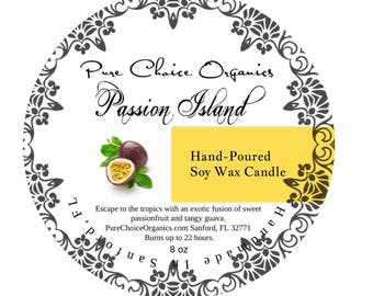 Passion Island Soy Wax Candles Holiday Gift | Birthday Gifts Under 20