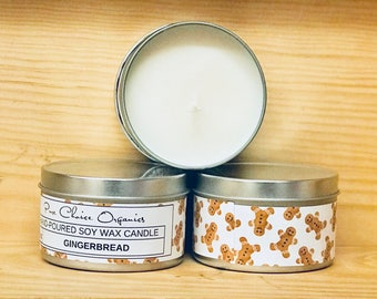 Gingerbread Soy Wax Candles Holiday Gift | Birthday Gifts Under 20