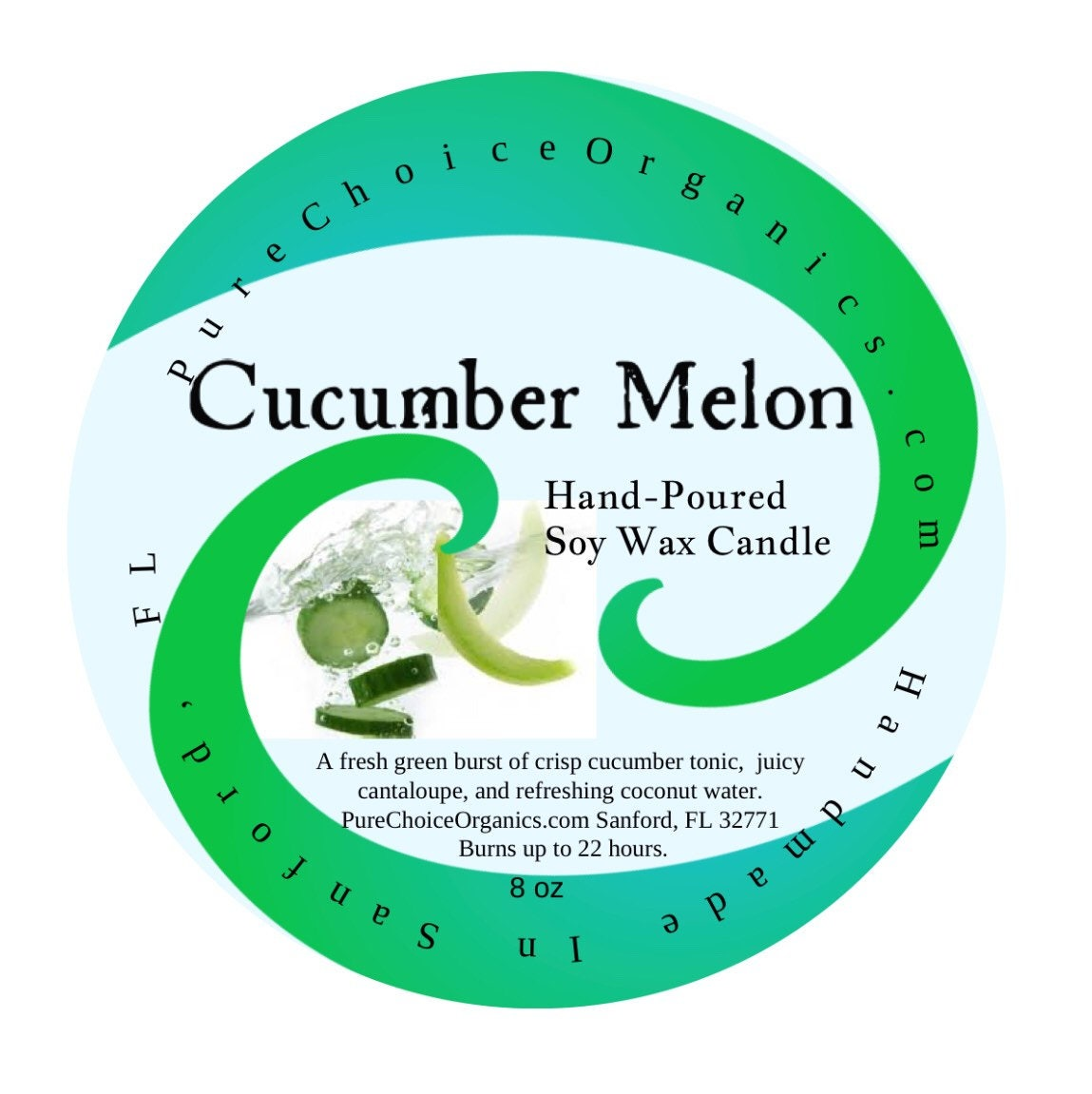 Cucumber Melon Soy Wax Candles Holiday Gift